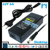 ul approved power supply 12v 6a ac adapter for it product 72w ce vde powerline ac/dc adapters