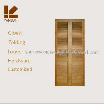 cheapest with hardware radiata pine double louver folding wardrobe door designs