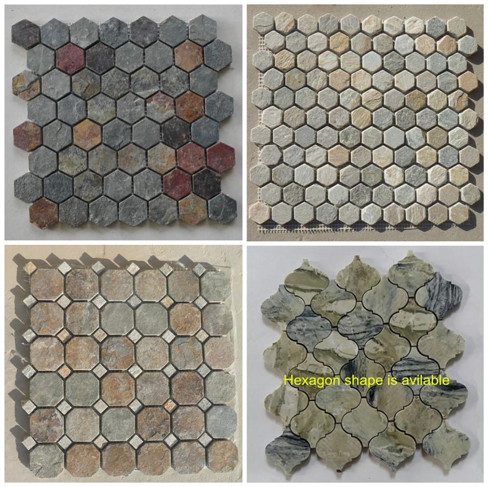 Slate hexagon tile