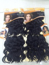 EVA noble gold synthetic hair 12'' black color 1# noble gold synthetic hair rose curl