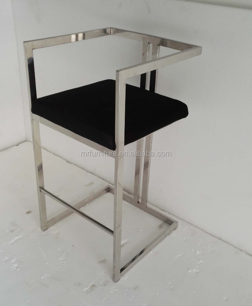Polish stainless steel bar stool