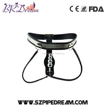 Stainless Steel Female Underwear Chastity Belt with Anal Plug