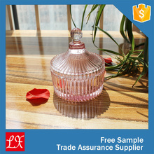 2015 new design fancy color glass candy table containers