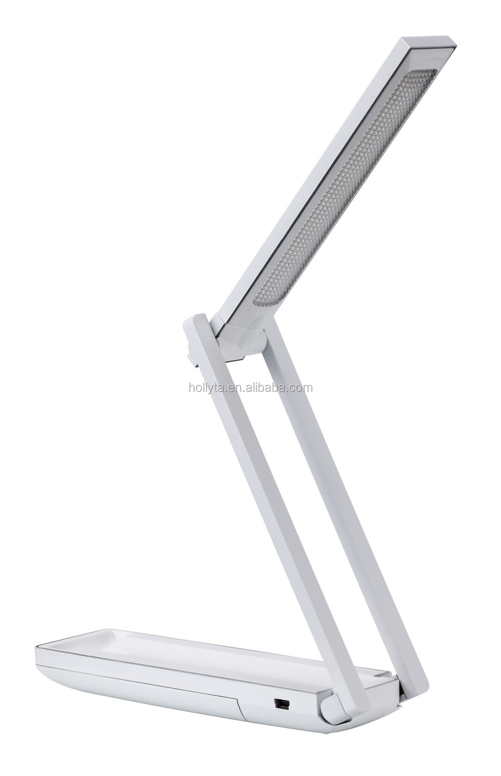 LED Foldable Rechargable Reading Desk Table Lamp Light Touch Control Folding