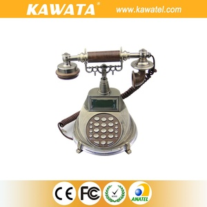Old fashion LCD diplay corded fixed vintage phone