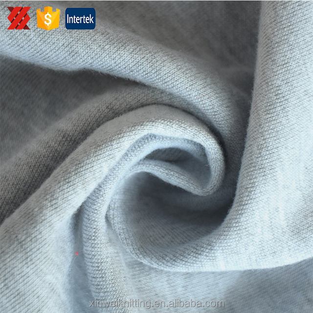 Grey knitting polyester combed cotton dress fabric online shop