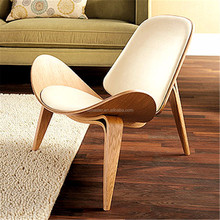 plywood shell chair/hans j wegner style three Legged Shell Chair/garden chair