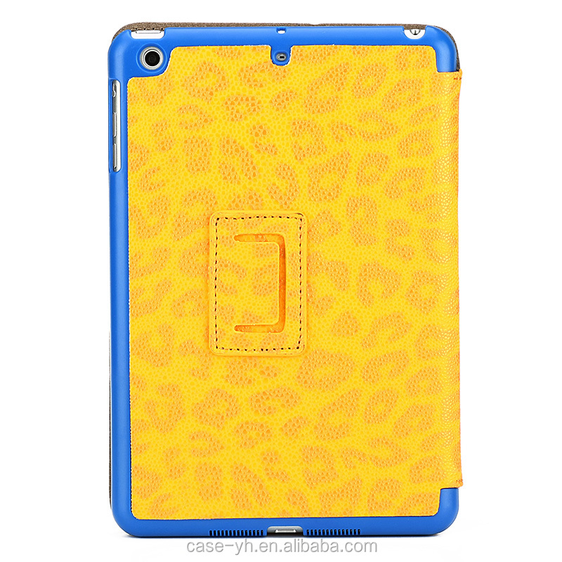 Golden yellow fashionable tablet case for iPad mini123 protective tablet case for girls