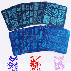 Customed Design Square Nail Art Stamp Stamping Plates 6x6cm Nail Stamp Plates