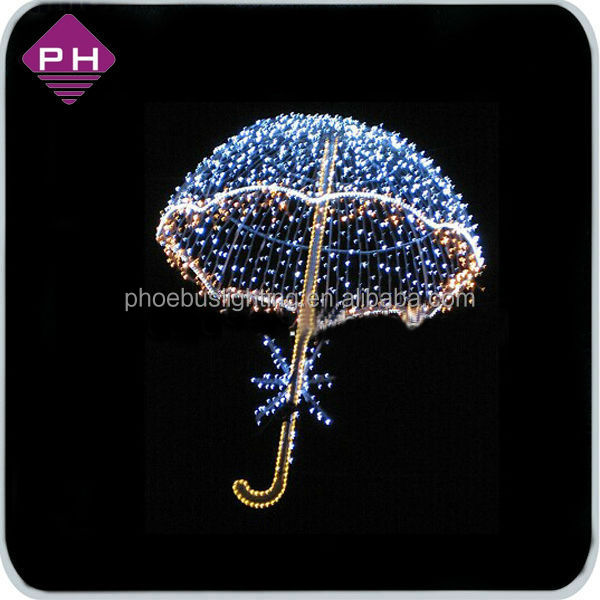 2014 Fancy style Christmas motif street light skylines decoration umbrella