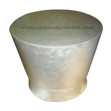 Quality eco-friendly handmade vietnamese lacquer table in white silver leaf