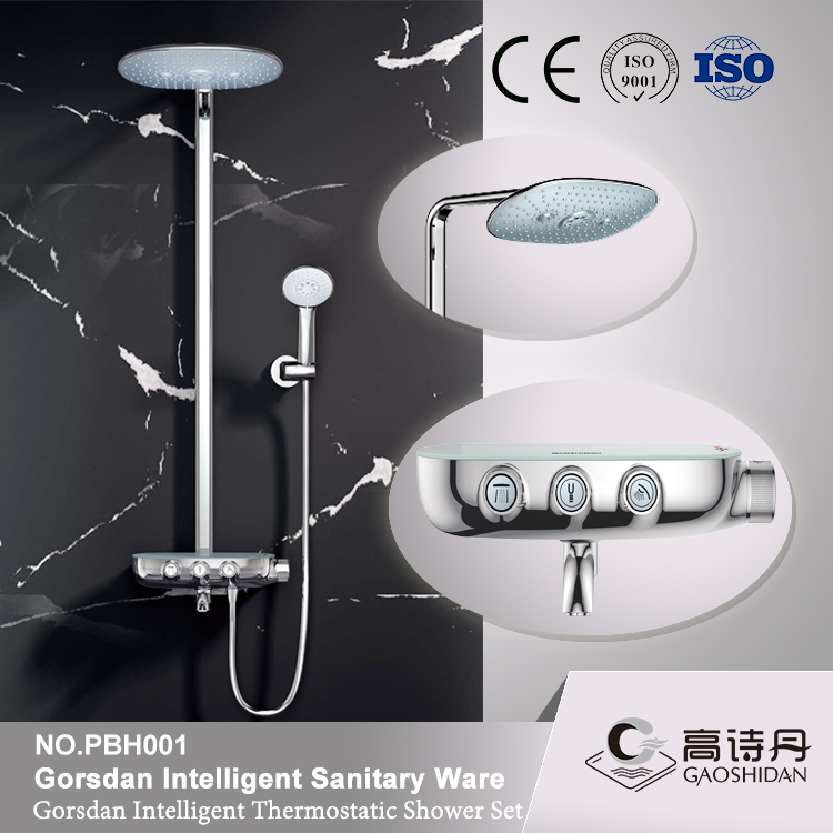 Latest product of china wall mounted shower faucet mixer for luxury shower unit