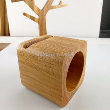 Portable bamboo wood mini speaker 2017, real wood lound-speaker for Samsung S7