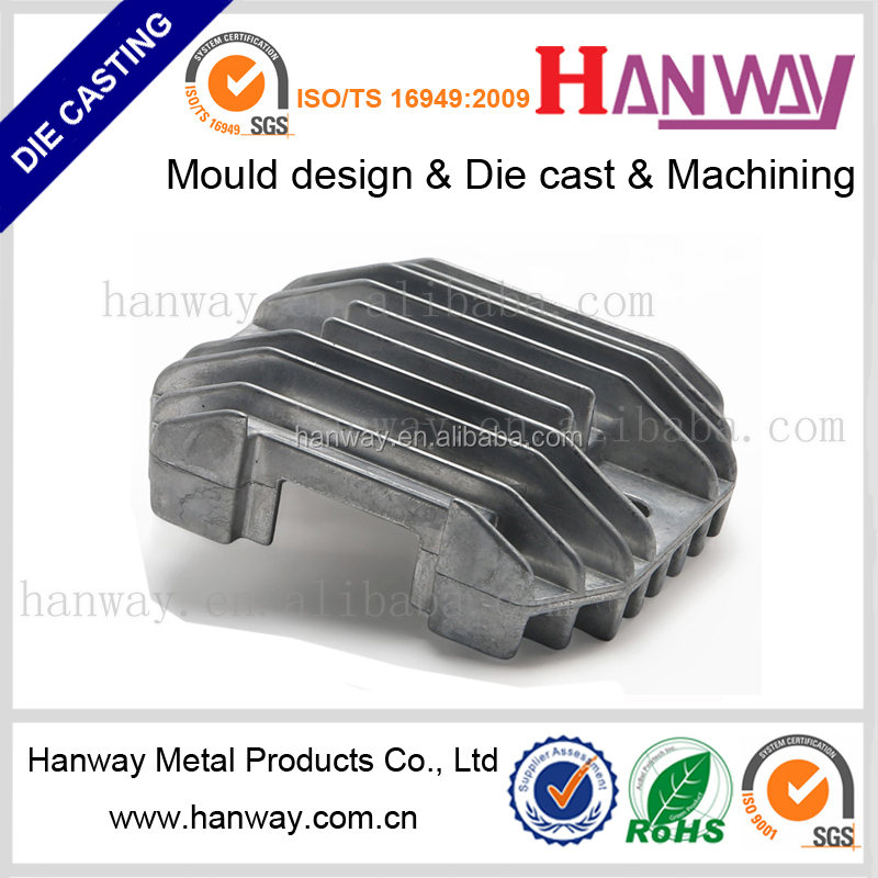motorcycle parts of aluminum die casting customize heat sink