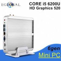 New 6th Generation Fanless Mini pc Core I5 6200U Barebone Windows10 Mini PC Nettop 4K VGA HD-MI HTPC 300M WiFi