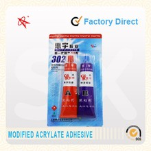 Modified acrylic adhesives ab glue with aluminium tube packed in 80g