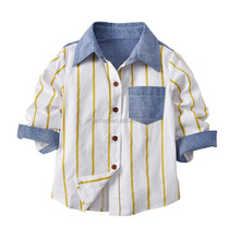 fancy long sleeve children clothing shirt