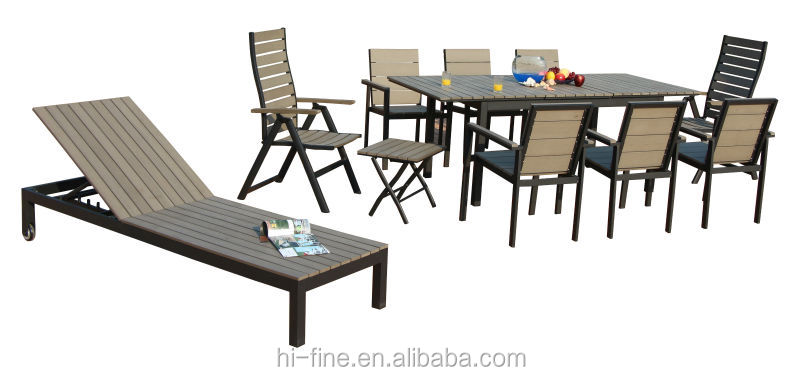 Hot Sale Polywood Outdoor Furniture Extension Table And Chairs Garden Furniture Set Buy Wooden
