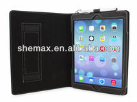 For iPad Air iPad 5Hand Strap PU Leather Case Folio Cover Accessories For Tablet PC