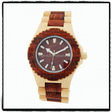 Factory Wholesale maple wood bamboo men's wrist watch with water resistant