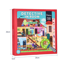 mideer MD3008 large cartoon paper detective in space Children Gifts Puzzle Creative Toy with Magnifier