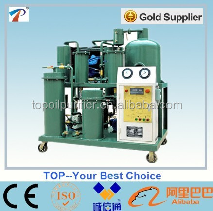 TOP stainless steel vacuum dehydration oil purification system to clean dirty lubricating oil