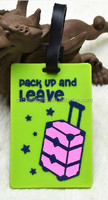 2015 new style soft pvc luggage tags