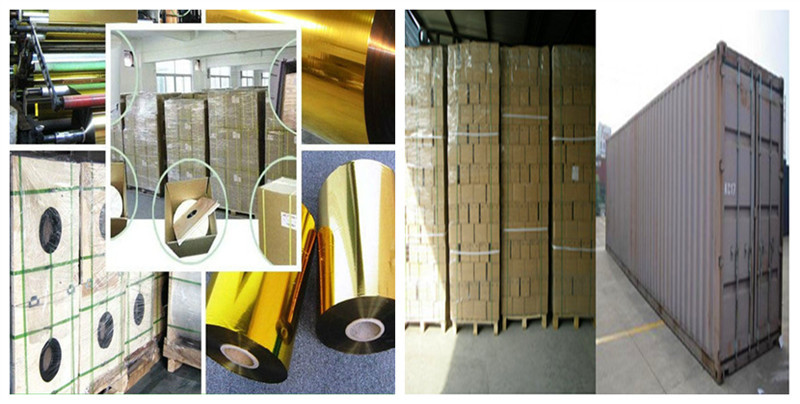 Custom Made PET 640mm*120m Hot Stamping Foil For Plastic