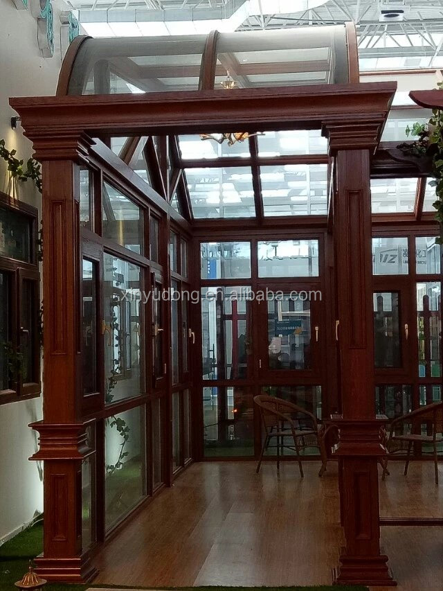 Very popular aluminium extrusion profile glass house /glass garden room /green house