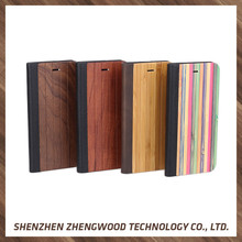 China flip wallet wholesale cell phone wood case bamboo walnut wood back case cover for smartphone