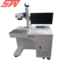 Metal Fiber Laser Marking Machine / Wood Acrylic Plastic Metal Laser Printer for Sale