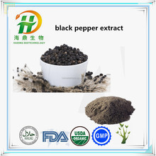 Hot Sell black pepper extract , Pure 95% Piperine , best price Piper nigrum L.