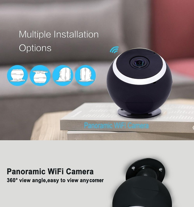 960P 360 Degree WiFi Mini Fisheye IP Camera