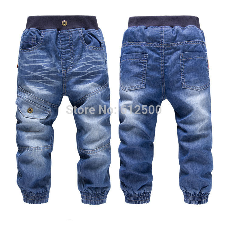 High quality KK-RABBIT brand summer style and winter thick cashmere fashion Boys pants girls kids trousers baby children jeans
