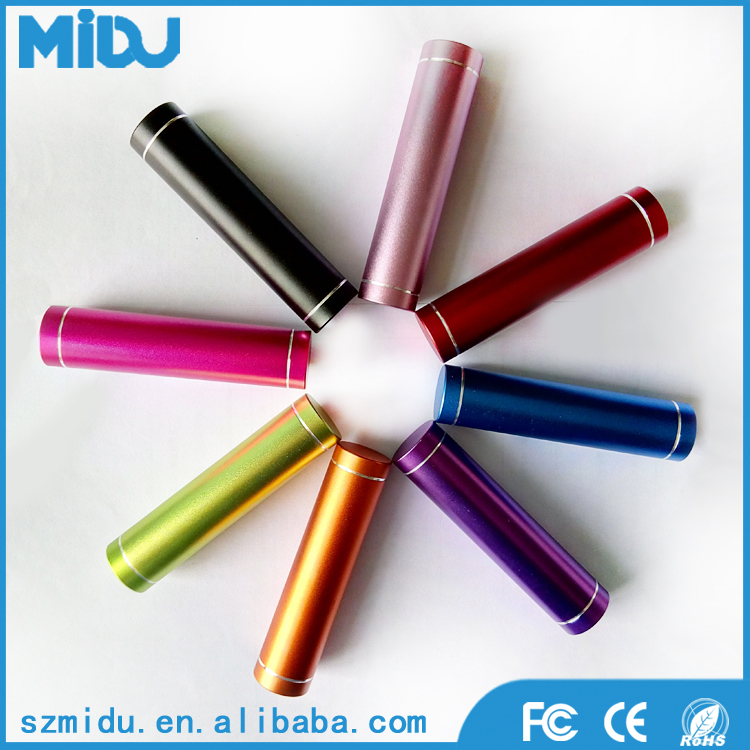 2017 Cheapest Promotional Gifts Midu M-L2 Lipstick Battery Charger Portable Power Bank 2600Mah