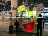 WOW So Lovely Watermelon Style food service kiosk, commercial kiosk for food, hot food cabinet with led lights