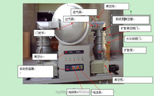 high vacuum sintering furnace with water cooling system for lab heat treatment using