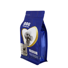 Plastic Pouch Pet Food Quad Seal Packaging Bag