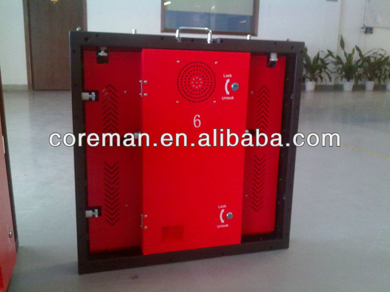 Slim led rental board cabinet 500x500 / pitch 5mm led rental display / 16x16 led dotmatrix module rgb