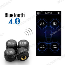 Wireless tire pressure monitoring system with app for car tire pressure indicator