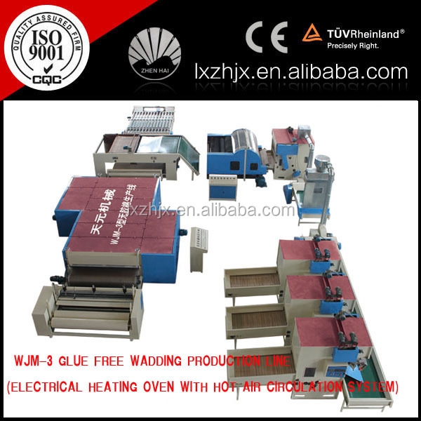 WJM series polyester fiber wadding machine, wadding making plant from polyester fiber