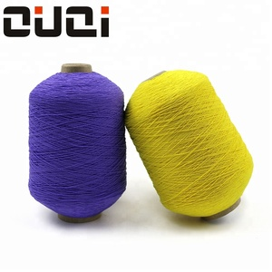 High tenacity 100 polyester latex rubber covered yarn for wholesale