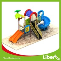 2015 Newest Design Children Outdoor Playset Playground Equipment with Spiral Slide