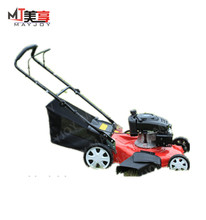 Self- propelled supoman robot lawn mower/hay cutter with adjustable cutting height