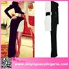 2015 new design ladies dress Black White Asymmetric Belted Jersey Maxi Dress