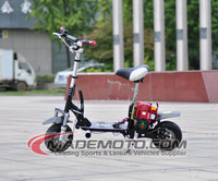 Hot Selling 2 Stroke Electric Starter 38CC Gas Scooter with Pedals