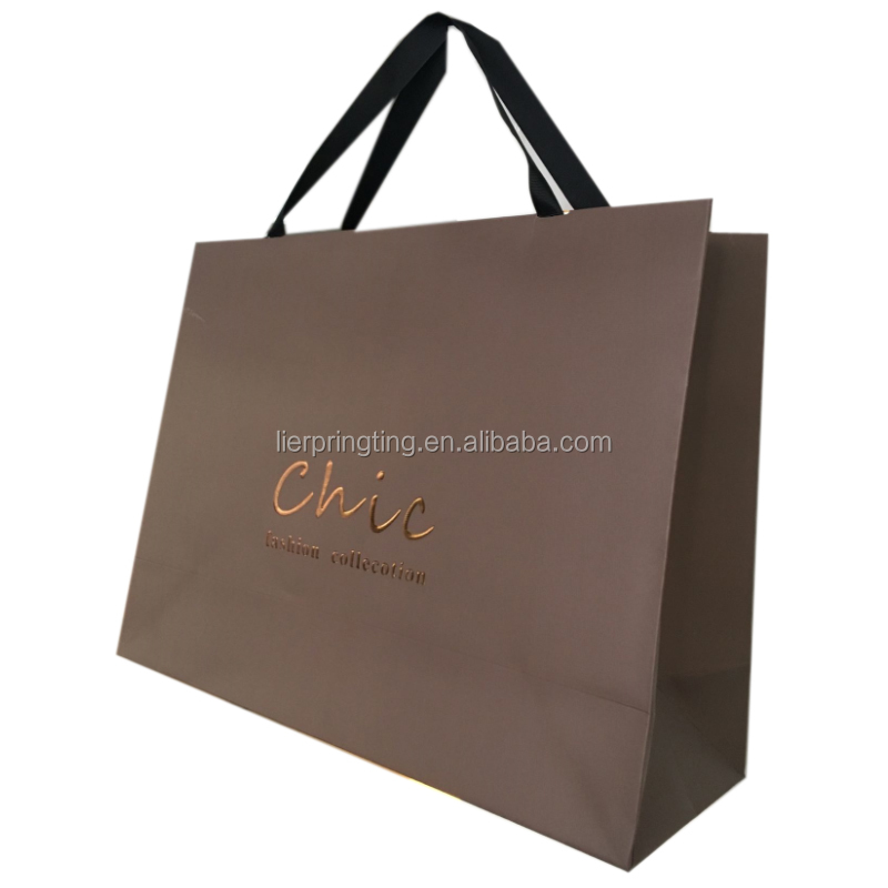 Custom Printed big recycle shopping paper bag & different types of paper bags at wholesale
