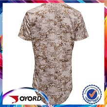 2015 high quality wholesale new design best selling camo baseball uniform