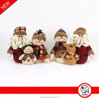 hand made family fabric christmas santa snowman decoration