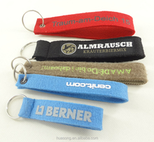 Cheap custom single lanyard felt keychain short lanyard, no minimum order